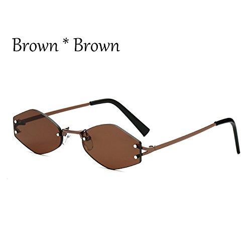 Gafas Señoras Negra Lens G Browen TIANLIANG04 Uv354 Moda Cuadrado Tonos Gafas C1 Sol Lente Pequeño De C3 Reborde qB06Awt
