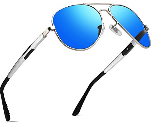 ATTCL Men's Hot Classic Driving Polarized Sunglasses For Men Women 16695silverblue -