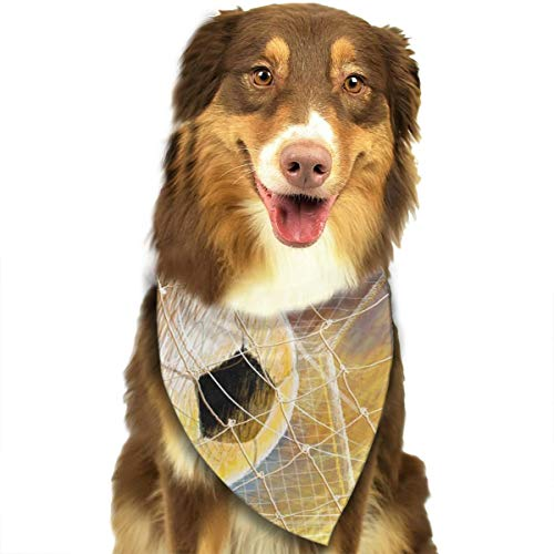 Pet Scarf Dog Bandana Bibs Triangle Head Scarfs Football Post Kick Accessories for Cats Baby Puppy]()
