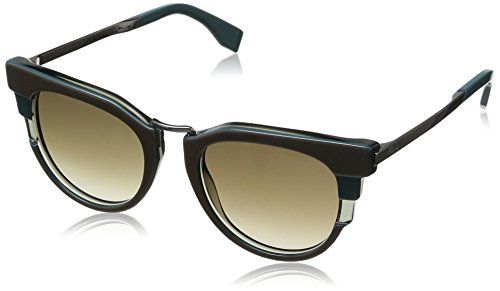 FENDI Sunglasses 0064/S 0MXX Green Gray 51MM