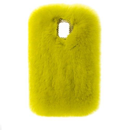 Kircher ZTE Prestige 2 Case, ZTE N9136 Case, Soft Rex Rabbit Fur Fluffy Plush Back Case for ZTE Prestige 2/ZTE N9136