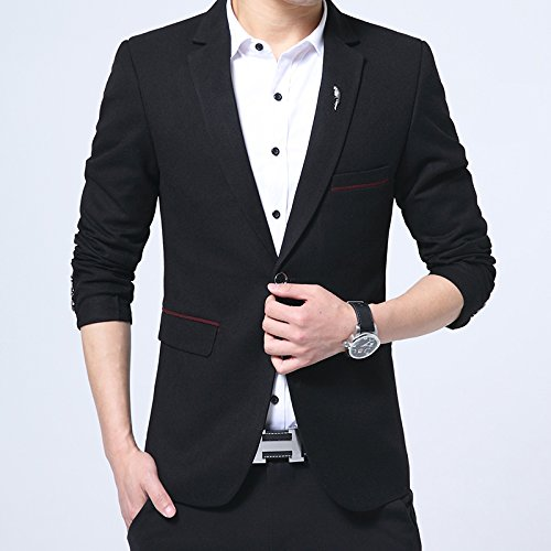 Mens One Button Slim Fit Peak Lapel Business Blazer Separate Jacket