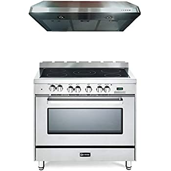 36 Electric Range >> Amazon Com Verona Stainless Steel Kitchen Package Vefsee365ss 36