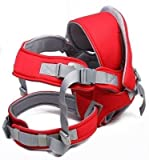 6 in 1 Front & Back Baby Carrier Infant Backpack (Red)
