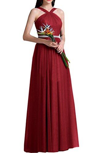 Brautjungfernkleider Promkleider Lang Rot Abendkleider A La Braut Linie Rot Abschlussballkleider Rock Marie w1C44qOnR