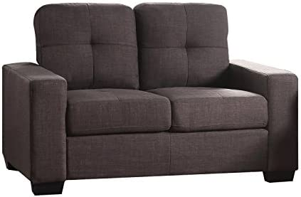 ACME Furniture 52931 Platinum Iii Loveseat, Charcoal