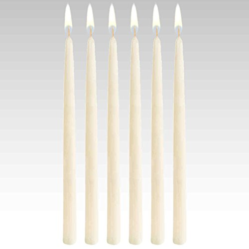 18'' Taper Candles (144 pcs/cs) Ivory by Candles4Less