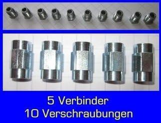 F made in Germany 10/x vite 5/x connettore per tubo del freno 4,75/mm qualit/à professionale