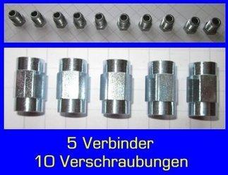10x vite 5x connettore per tubo del freno 4,75mm, F, qualità professionale, made in Germany 75mm qualità professionale P.Sonderes
