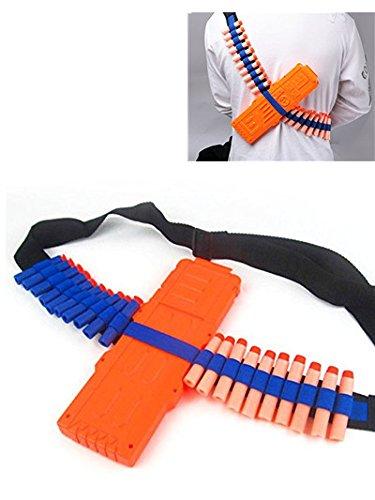 Yosoo Bandolier Toy Gun Soft Bullets Storage Shoulder Belt Strap with 20 Piece Darts