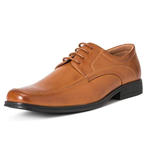 Shoe Francis - Mens Queensbery Francis Office Formal Work Wedding Smart Leather Shoes - Tan - EU43/US10 - QB0027