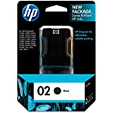 HP 02 Ink Cartridge Black Original (C8721WN)