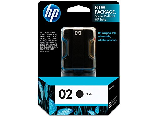 (Hewlett Packard Office C8721WN#140 HP 02 Black Original Ink Cartridge For HP Photosmart 3110, 3210, 3310, 6580, 8250, C5140, C5150, C5180, C6150, C6180, C6185, C6240, C6250, C6280, C6286, C7150, C7180, C7250, C7280, C8150, C8180, D6160, D7145, D7155, D7160, D7245, D7255, D7260…)