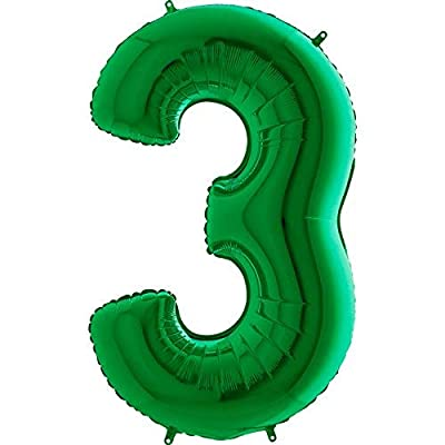 Giant Green Number '3' Balloon Decoration - Party Supplies: Toys & Games