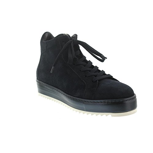 Donna Carolina Sneaker, Oregon Navy+Gom Lago (Veloursleder blau), Lederfutter, Reißverschluss 34.168.140-005 Blau