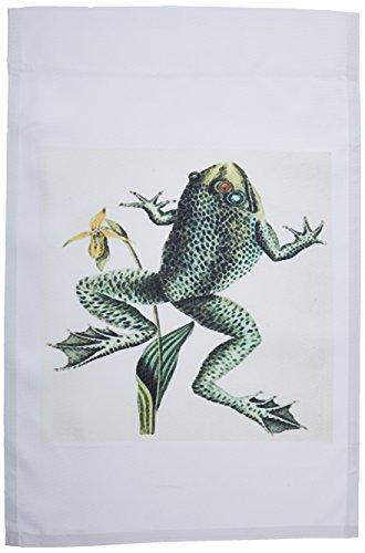 3dRose fl_119813_1 Rendering of Vintage John J Audubon Painting of A Frog Garden Flag, 12 by 18-Inch