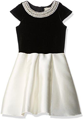 Velvet Satin Holiday Dress - 6