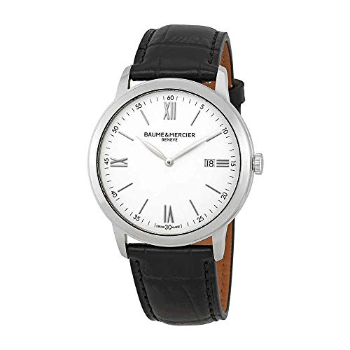 Baume et Mercier Classima White Dial 42mm Men's Watch 10414