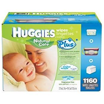 Amazon Com Huggies Natural Care Plus Baby Wipes 29295