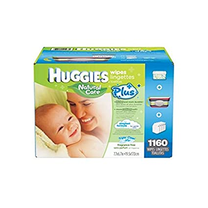 Huggies Natural Care Plus Baby Wipes (29295) by Kimberly Clark