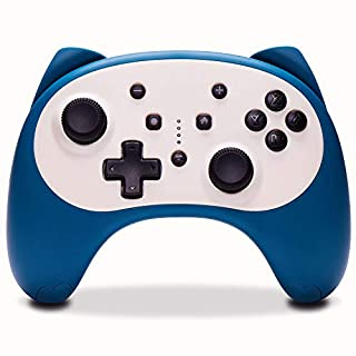 Funlab Wireless Pro Controller for Nintendo Switch/Switch Lite Console,Rechargeable Remote Gamepad Support Adjustable Turbo,Screenshot and Gyro Axis (Blue)