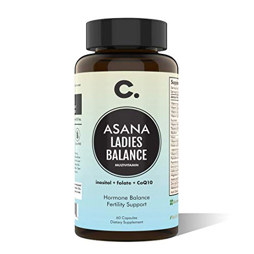 Asana LadiesBalance by CHIOMA Nutrition Women's Hormone Balance Multivitamin Vitex + Maca + Shatavari + Myo-Inositol + Free Eating for Balanced Hormones Plan