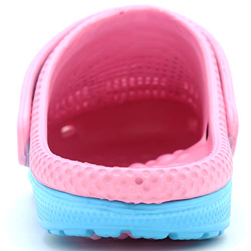 Massage Light On Mules Ameta Women Two Shoes Blue Insole Slipper Rubber Garden Slip Tone Clogs OO1WwqHRxP