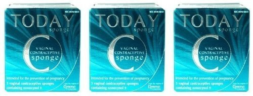 Today Sponge Vaginal Contraceptive Sponges 3 ct (3 Boxes - 9 Sponges Total) by Today Sponge