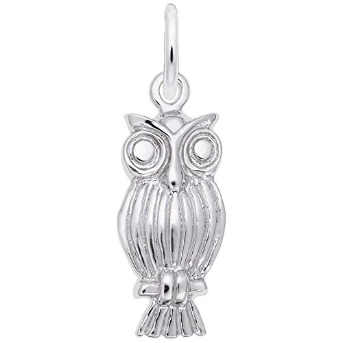 Owl Rembrandt Charm - Rembrandt Charms Owl Charm, 14K White Gold