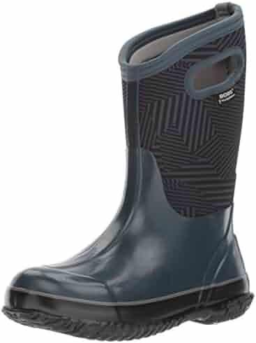 Bogs Kid's Classic High Waterproof Insulated Rubber Neoprene Rain Boot Snow, Phaser Print/Navy/Multi, 9 M US Toddler