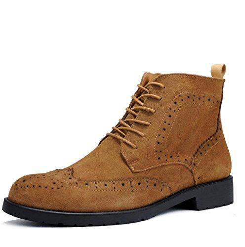 Heart&M casual retro alta corte gamuza de los hombres zapatos botas cortas/Martin Brown