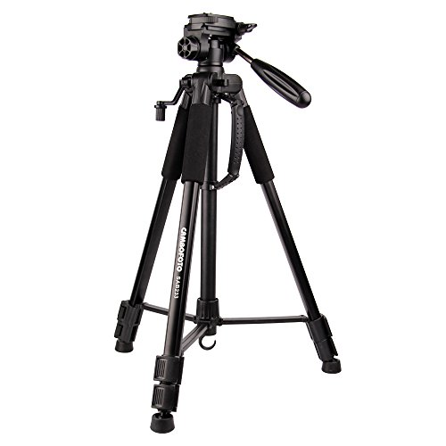 "CAMBOFOTO 62"" Lightweight Travel Tripod for Camera with built in Spirit Level and 3-Way Panhead Tilt Motion for SLR/DSLR Canon Nikon Sony Olympus etc"
