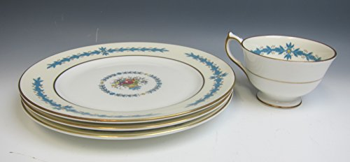Lot of 4 Aynsley China CAMBRIDGE (Smooth) 3 Salad Plates + 1 Cup EX