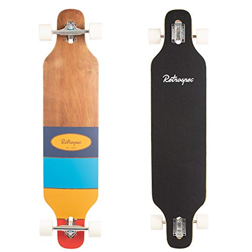 Fantastic Deal! Retrospec Rift Drop-Through Longboard Skateboard Complete
