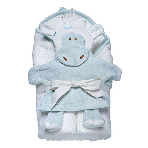 Under the Nile Hooded Towel and Wash Mitt Set - Giraffe
