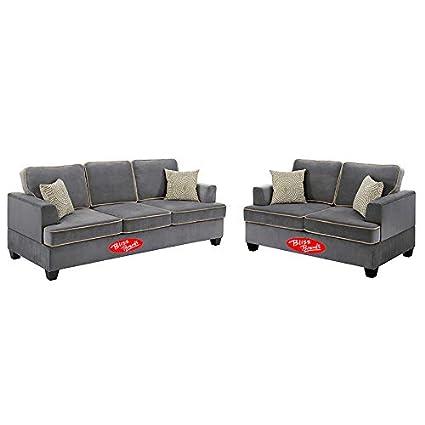 Astounding Amazon Com Sectional Sofa Loveseat 2 Pieces Set Velvet Two Pabps2019 Chair Design Images Pabps2019Com