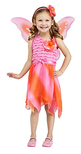 [Fun World Costumes Baby Girl's Firefly Fairy Toddler Costume, Pink/Orange, Small] (Firefly Kids Costumes)