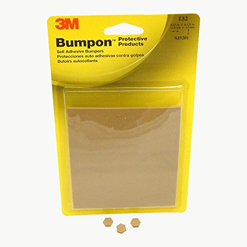 3M Scotch SJ5201 Series Bumpon Self-Adhesive Bumpers: 0.433 in. x 0.125 in. (Light Brown) ()