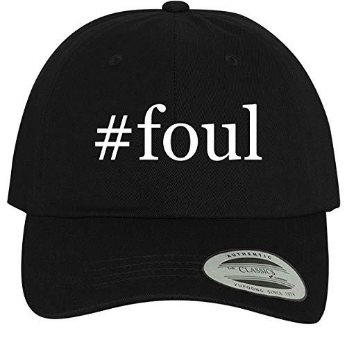 BH Cool Designs #Foul - Comfortable Dad Hat Baseball Cap, Black ()