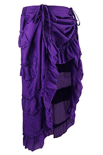 Skirt Women's Steampunk Violet High Gothic Charmian Cyberpunk Low 8qYdp