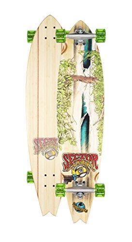 Sector 9 Nicaragua Complete Skateboard Longboard Cruiser (Green Wheels w/ Stock Bearings)