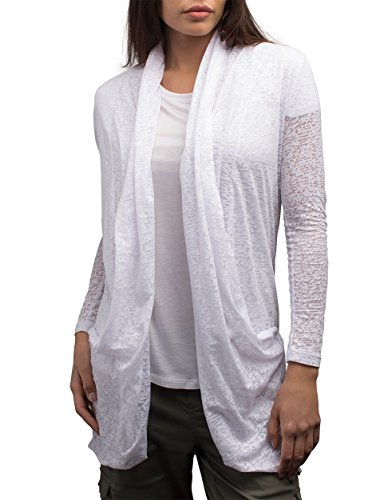 SCOTTeVEST Women Lucille Cardigan - Travel Clothing for Women - Sheer Cardigan (CLD XL)
