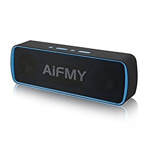 AIFMY B10 Portable Wireless Speaker,Built-in Dual Driver Bluetooth Speakers,HD Audio and Enhanced Bass, Built-in Mic, Outdoor Speakers for iPhone, iPad, Samsung etc