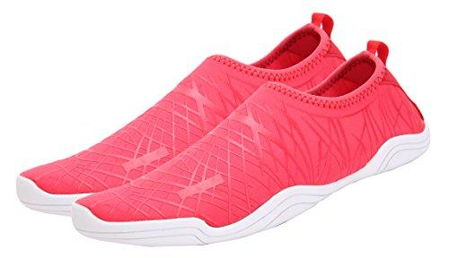 SAMI STUDIO Männer und Frauen Wasser Schuhe Leichte Durable Rolle Aqua Schuhe Geeignet Für Fahren Schwimmen Bootfahren Yoga Beach Surf Red1