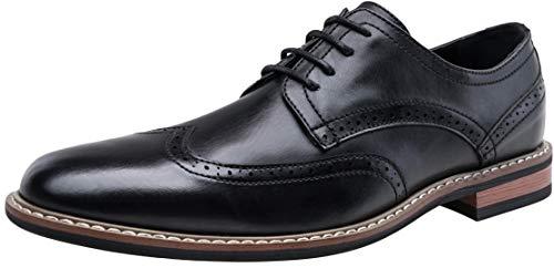 JOUSEN Men's Oxford Formal Dress Shoes Brogue Business Derby Shoes (10.5,Black) (Best Mens Derby Shoes)