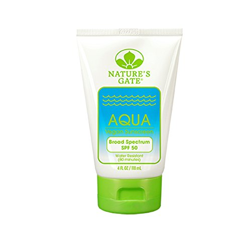 Natures Gate Sun Care (Natures Gate Sunscreen Aqua Block Very Water-Resistant Fragrance-Free 4 oz)