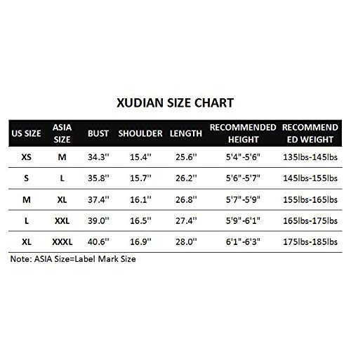 Xudian Short Sleeves Men T Shirt Crew Neck Us Size Small Asian Size Large Black Frenzystyle