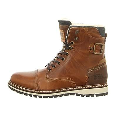 Bullboxer 880K25935AREGY - Zapatos de Cordones de Piel Para Hombre, Color Gris, Talla 45