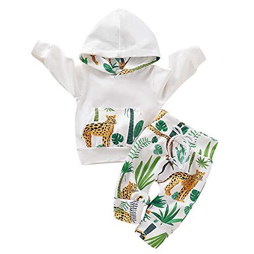 Tabpole Pasgeboren babykleding pak Forest Cheetah Print Hoodie Top Broek Outfits Set