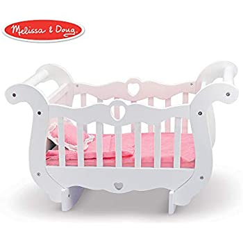Amazon com: Badger Basket Heirloom Style Doll Cradle with Blanket